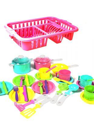 Набор посудки Орион в сушке, детская посудка