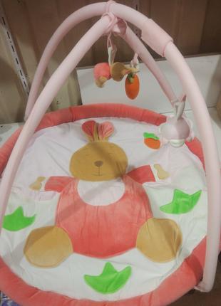Детский плюшевый развивающий коврик