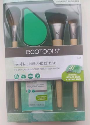 Ecotools набор кистей для макияжа, спонж, подставка для сушки