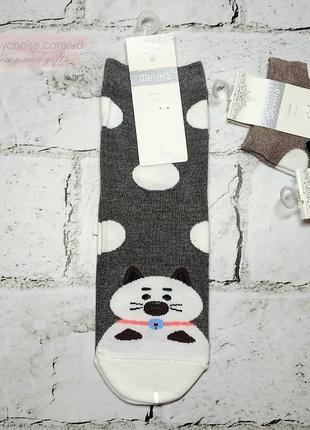 Женские носки с рисунком Кот