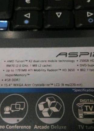 Acer Aspire 5530 wi-fi, bluetooth