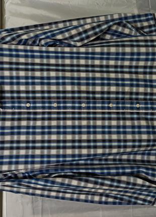 Рубашка мужская с длинным рукавом размер 56 54 хлопок