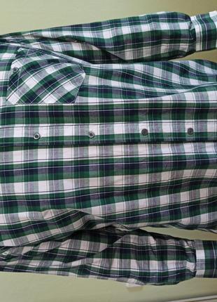 Рубашка мужская большого размера с длинным рукавом. Размер 56 58