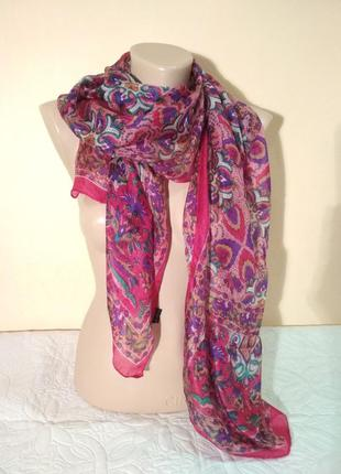 Шелковый шарф, платок 50 х 170