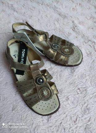Новые босоножки стелька кожа р.36-23 Tom&Rose Польша сандали
