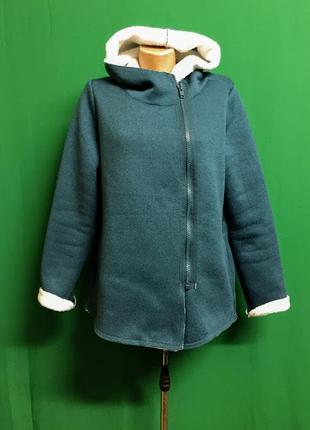 Куртка-толстовка косуха на меху с капюшоном бренда esmara