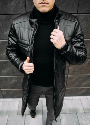 Крутая мужская зимняя куртка пальто