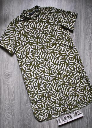 Платье рубашка прямого кроя р. 46-48