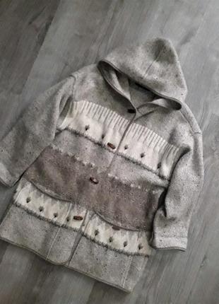 Австрия премиум класс кардиган   пальто куртка с капюшоном 100...