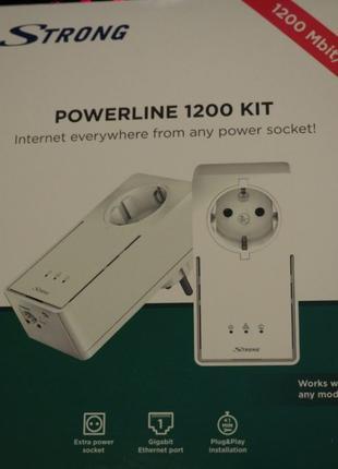 Комплект адаптеров Powerline Strong 1200 (Интернет Через Розетку)