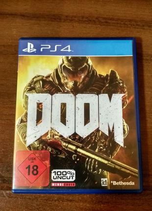 Игра Doom на Sony Playstation 4