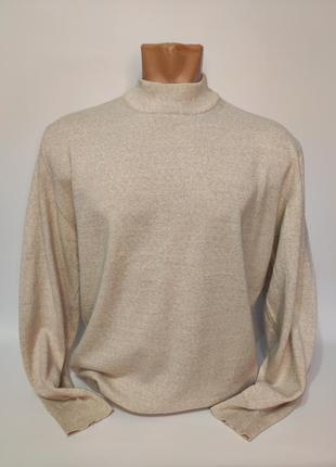 Canda бежевый тонкий шерстяной свитер, гольф