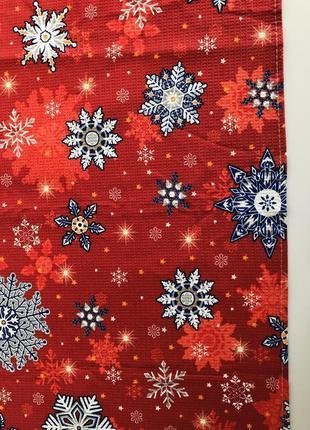 Рушник, кухоний рушник, кухонное полотенце, новогоднее полотен...