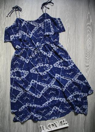 Сарафан платье с воланом р. 48