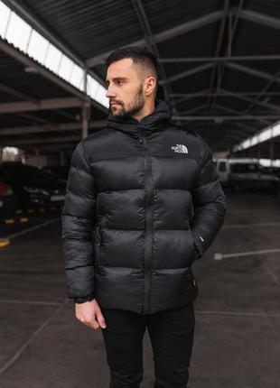 Зимняя куртка мужская черная био пух