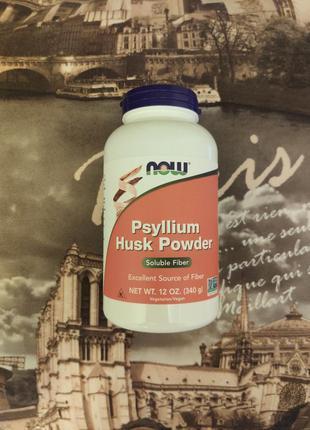 Now Foods, Порошок из шелухи семян подорожника, Псиллиум. США