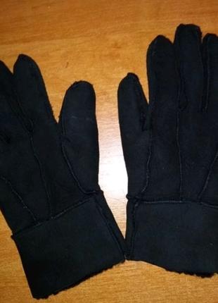 Кожанные перчатки для девочки