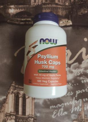 Now Foods, Псиллиум в капсулах, Шелуха семян подорожника. США