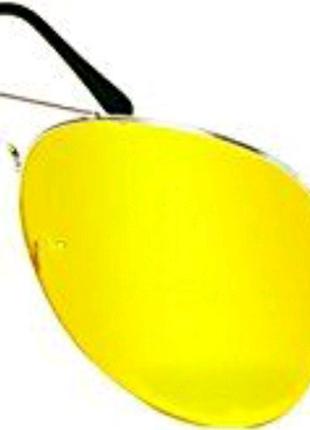 Желтые очки для зрения. Очки для водителей
