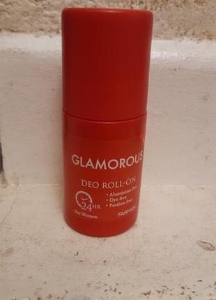 Парфюмированный роликовый дезодорант гламурус glamorous farmasi