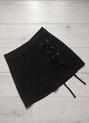 Юбка шорты со шнуровкой р. xs