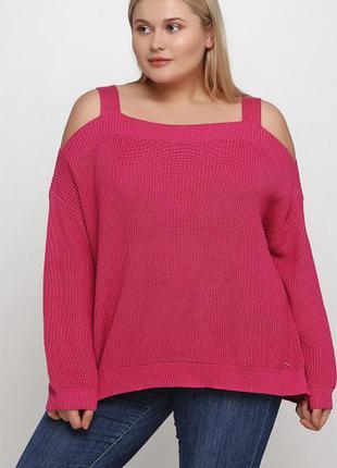 Джемпер свитер с открытыми плечами