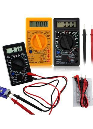 Мультиметр (тестер) DT-830B c щупами и батарейкой крона