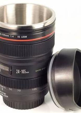Термокружка в виде объектива фотоаппарата canon кружка термос