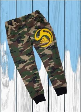 Спортивные камуфляжные детские штаны