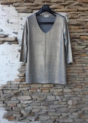 Золотой пуловер блузон большого размера