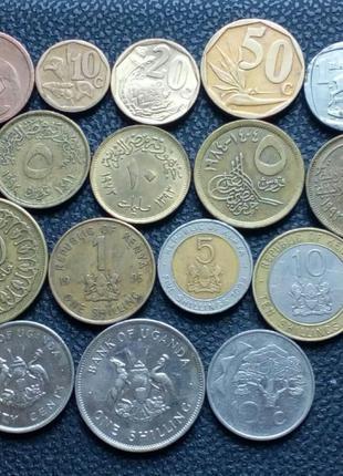 Монеты стран Африки 23 монеты
