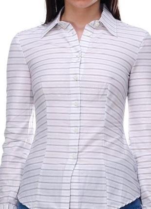 Белая рубашка от benetton / s / хлопок