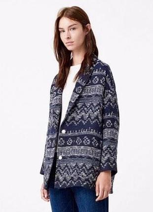 Вязаная куртка, жакет из хлопка mango oversize / xs