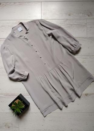 Базовая шелковая блуза туника р. 14