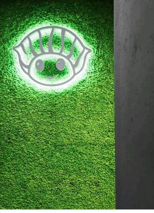 Озеленение вертикальное стабилизированный мох лофт логотип