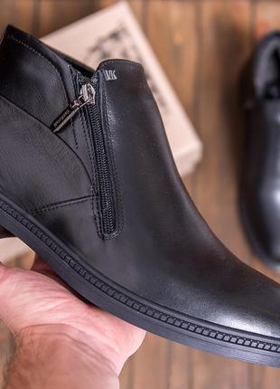 Мужские  зимние кожаные ботинки натуральной кожи VanKristi
