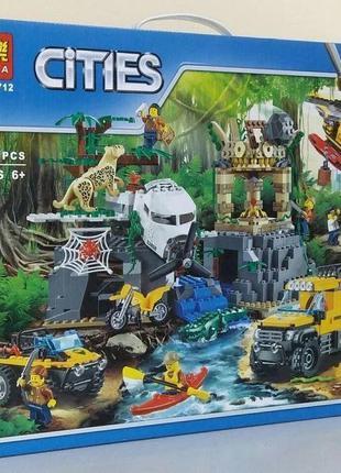 Конструктор Bela 10712 База исследователей джунглей City 60161...