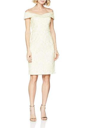 Коктейльное белое платье с золотым узором, нарядное, свадебное...