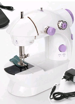 Мини швейная машинка zimber зингер sewing machine 4 в 1 электриче