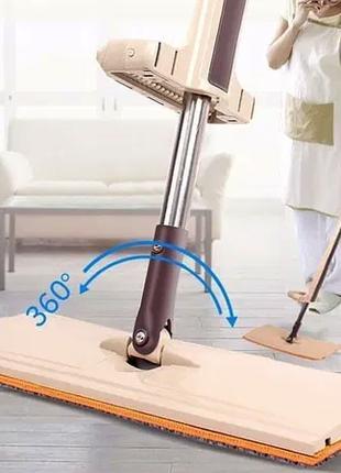 Швабра лентяйка для быстрой уборки с отжимом Spin Mop 360 с микро