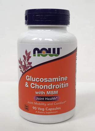 Глюкозамин, хондроитин и МСМ Now Foods, 90 капсул