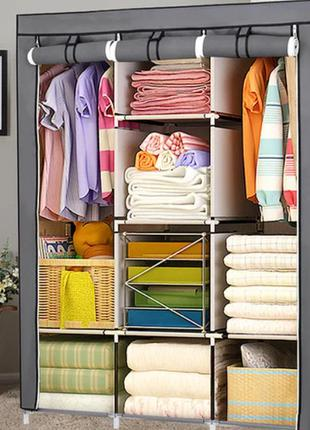 Складной каркасный тканевый шкаф Storage Wardrobe 88130, шкаф на