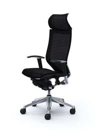 Кресло офисное OKAMURA CP Black, полированный каркас