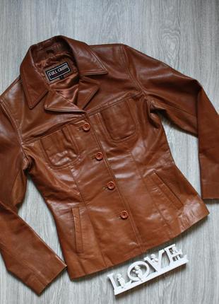 Кожанный пиджак куртка р. 42-44