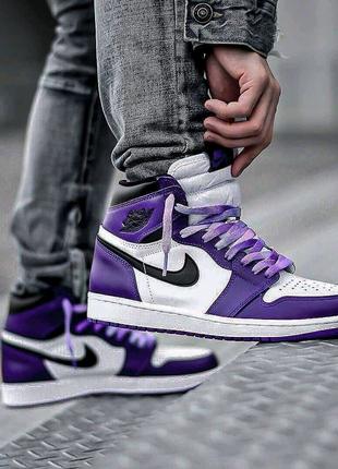 Nike Air Jordan retro 1 White Purple