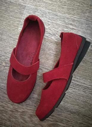 Кожаные,замшевые,красные туфли,макасины,балетки