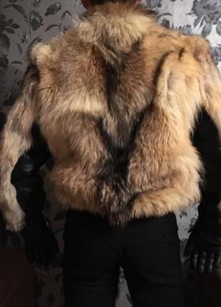 Куртка мужская с мехом волка