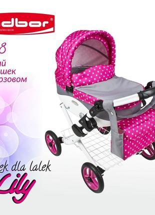 Кукольная коляска LILY TM Adbor, коляска для кукол. Артикул 302