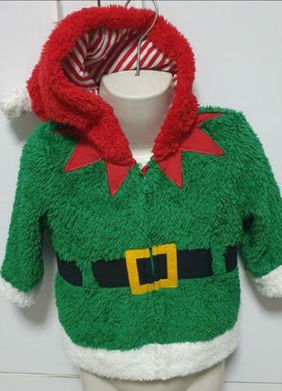 Новогодний новорічний светрик тёплый стильний плюшевая кофта к...