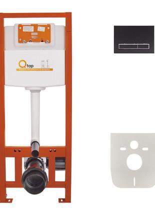 Набор инсталляция 4 в 1 Qtap Nest ST с линейной панелью смыва QT0